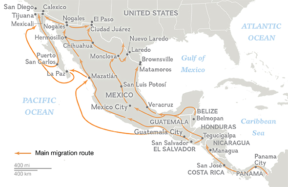 Violence and extortion drive Central Americans toward U.S. via ...