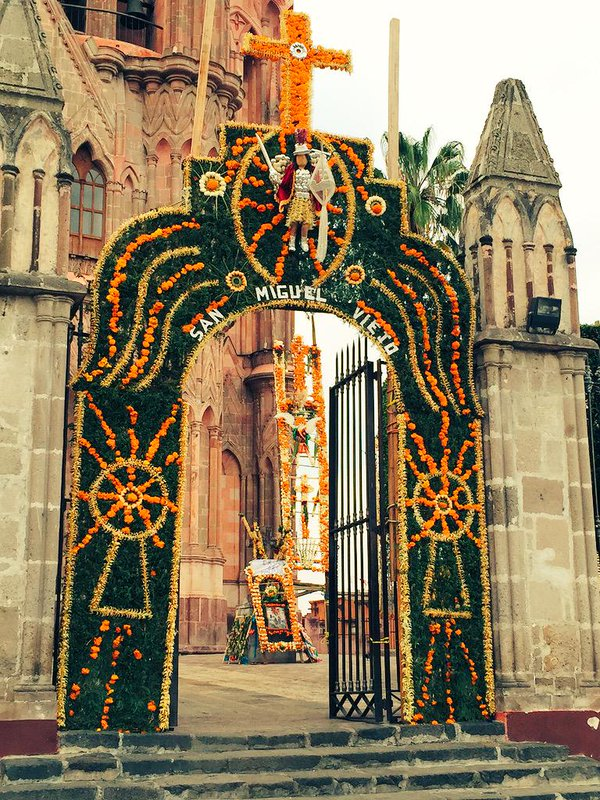 Xuchiles all around the Parroquia of San Miguel de Allende. (Image: Twitter)