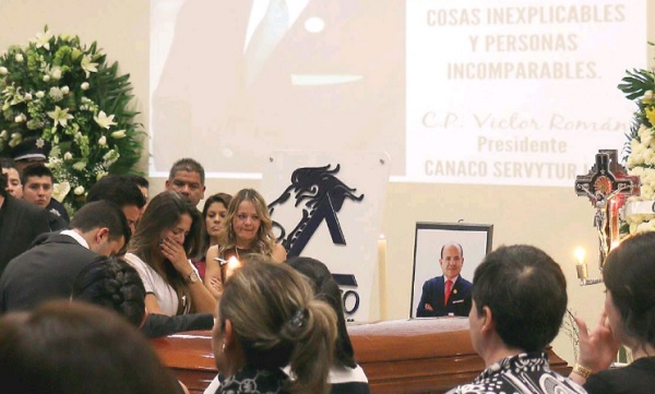 Victor Manuel Román funeral services in León (Photo: Periódico Al Día)
