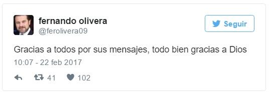 tweet olivera rocha