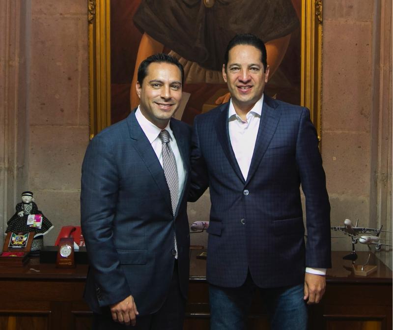 17 de marzo de 2017. El alcalde Mauricio Vila con el gobernador de Querétaro. Foto oficial