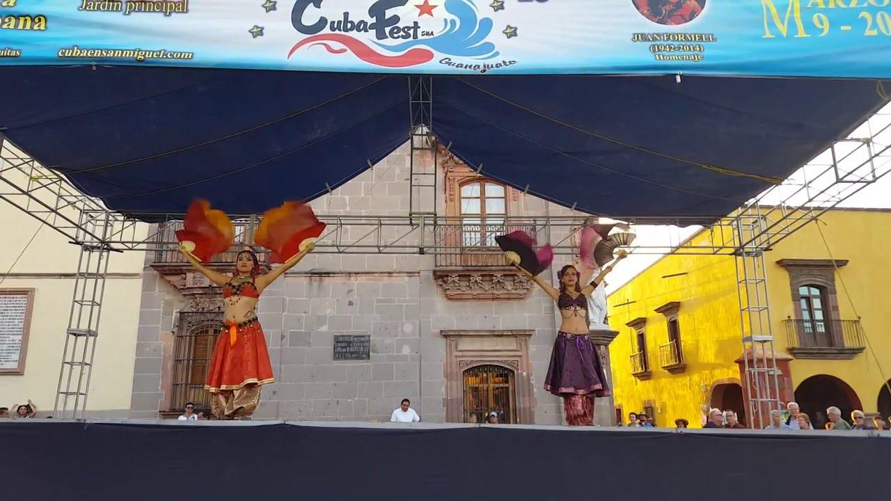 """Abanicos de Seda"" (Silk Fans), traditional dance from Cuba, featured in San Miguel during the Cuba Fest 2016 (Google)"