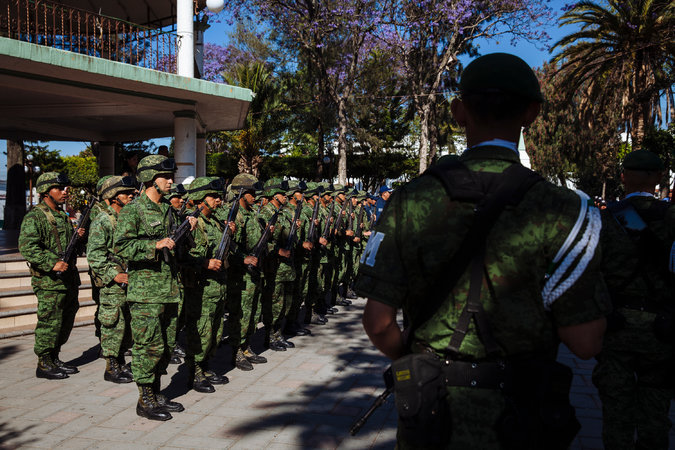 The Mexican Army has been tasked with patrolling a cluster of municipalities in Puebla, known as the Red Triangle, to combat fuel theft. Credit Rodrigo Cruz for The New York Times