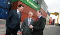 """BUSINESS-09/03/2012-Pictured at the launch today (Friday 9th March) of Enterprise Ireland's new initiative """"Get Export Ready"""" , which urges Irish companies with export potential to start exporting to expand their businesses and stimulate jobs growth, was new exporterTomás O'Leary, MD, Origina Ltd, Minister for Jobs, Enterprise and Innovation Richard Bruton T.D and Frank Ryan, CEO Enterprise Ireland. Enterprise Ireland will run a series of awareness events around the country to inspire and encourage a new cohort of companies to consider exporting.  Visit the Get Export Ready website on www.enterprise-ireland.com/getexportready for more information.  (NO FEE FOR REPRO) Credit Gary O' Neill"""