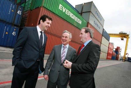 "BUSINESS-09/03/2012-Pictured at the launch today (Friday 9th March) of Enterprise Ireland's new initiative ""Get Export Ready"" , which urges Irish companies with export potential to start exporting to expand their businesses and stimulate jobs growth, was new exporterTomás O'Leary, MD, Origina Ltd, Minister for Jobs, Enterprise and Innovation Richard Bruton T.D and Frank Ryan, CEO Enterprise Ireland. Enterprise Ireland will run a series of awareness events around the country to inspire and encourage a new cohort of companies to consider exporting. Visit the Get Export Ready website on www.enterprise-ireland.com/getexportready for more information. (NO FEE FOR REPRO) Credit Gary O' Neill"