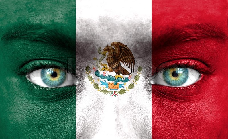 mexican flag face paint