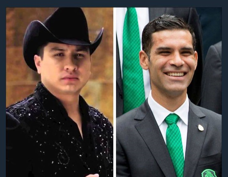 Soccer superstar Rafa Marquez and recording artist Julión Alvarez (Photo: Reforma)
