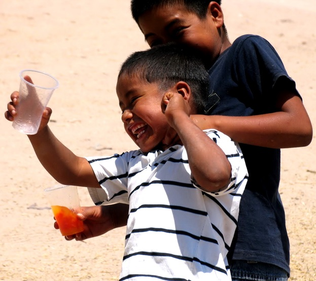 Campo children celebrate clean drinking water made possible with contributions by people like you!