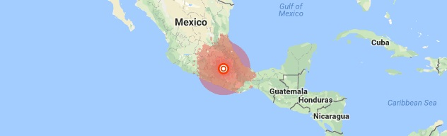 54 magnitude quake struck southern Mexico on Friday October 13