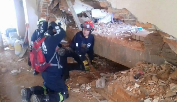 Guanajuato's Specialized Search and Resuce team saves lives in Mexico City (Photo: News San Miguel)