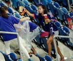Japanese fans won plaudits around the world after picking up the trash in their stadium stand after World Cup game. (Google)