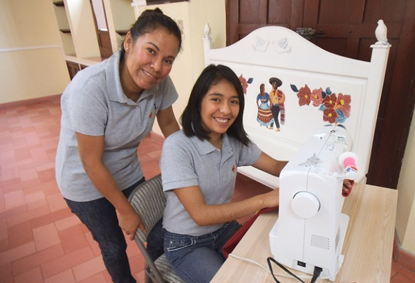 Inside the sewing workshop at the school for the deaf in San Miguel (Photo: Robin Loving)