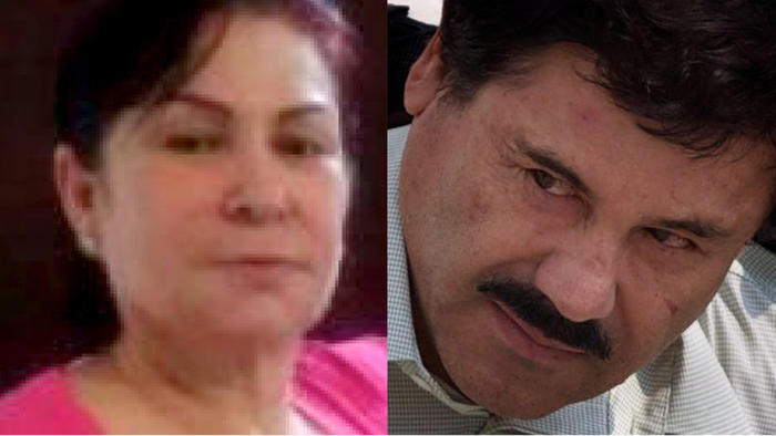 """Guadalupe Fernandez Valencia, left, one of the highest ranking female operatives under Sinaloa Cartel boss Joaquin """"El Chapo"""" Guzman, right, appeared in a Chicago courtroom Wednesday to face sweeping conspiracy charges. (AP)"""