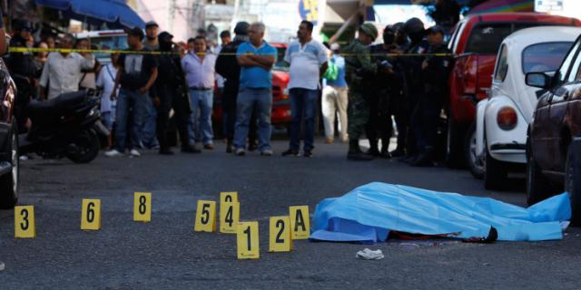 The breakdown in Mexico's narco underworld is putting politicians in the line of fire (Photo: Yahoo News)