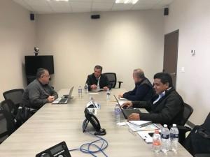 Gobernador, Miguel Márquez Márquez; el Secretario de Obra Pública, José Arturo Durán Miranda; el Subsecretario de Administración de la SOP, José Luis Meza y Manuel Venegas, Subsecretario de Edificación de la SOP (Foto: Periodico Correo)