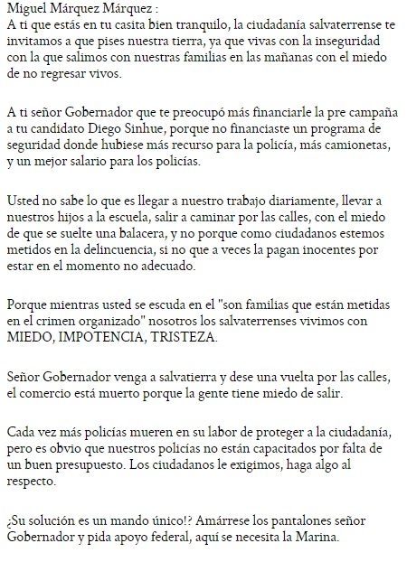 letter to Marquez SP