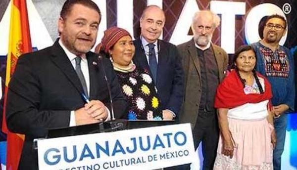 Fernando Olivera Rocha in Madrid Spain, during the inauguration ceremony of Punto Guanajuato (Photo: periodistadigital.com)
