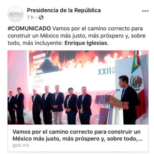 presidencia FB fuckup