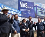 The Governor placed the first stone of the future secondary in the Calle Ecologistas of the colony Palmita de Landeta. (Photo: noticias.guanajuato.gob.mx)
