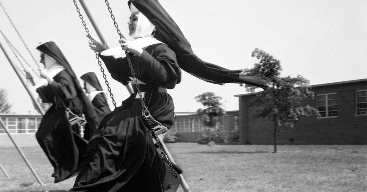 nun swinging