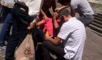 blindman hits tourist