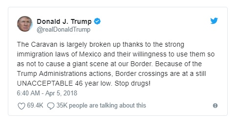 trump tweet april 5