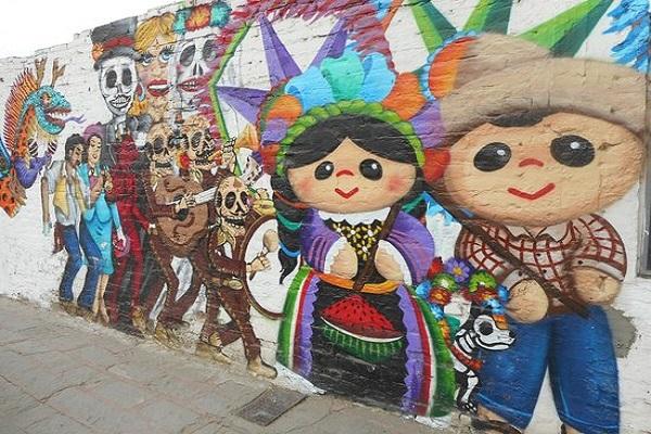 doll mural