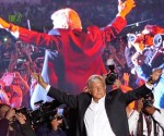 AMLO at campaign closure celebration in Azteca Stadium Mexico City (Photo: Ramon Espinosa, AP)
