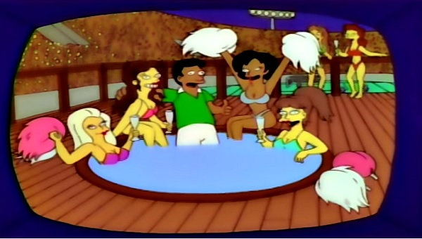 The Simpsons even made reference to the scandal that recently plagued the Mexican team who allegedly partied with several women before the beginning of the tournament (YouTube)
