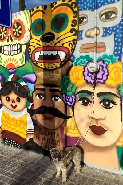 mural faces