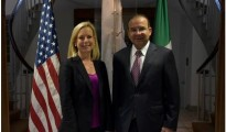 Kirstjen M. Nielsen and Alfonso Navarrete Prida (DHS Official Photo/Tara Molle)
