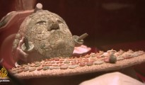 The funeral garb of an ancient Mexican leader has been restored and is on display in Mexico City.