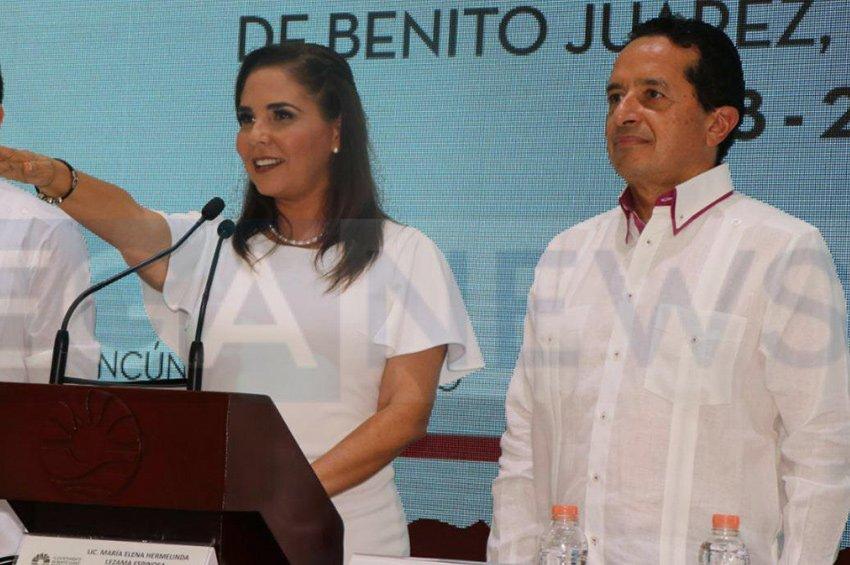 María Elena Hermelinda Lezama Espinoza was sworn in as mayor of Benito Juárez on Sunday Sep 30 (Photo: Especial)