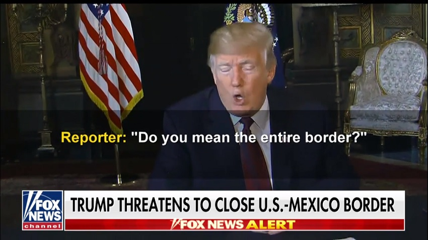 Trump close border
