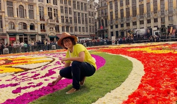 Ana Rosa is the creator of the carpet of flowers that adorned the Grand Place in Brussels and is considered by Forbes Magazine one of the most creative Mexican women. (Photo: AM)