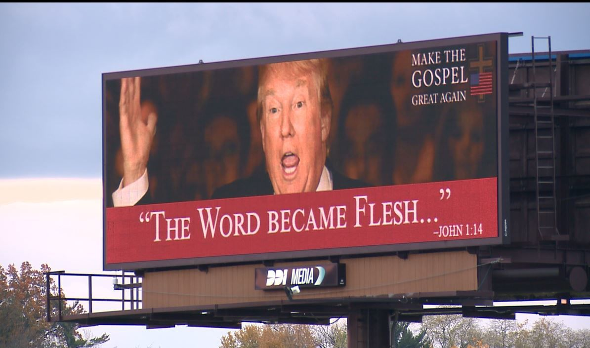 Billboard on highway on Interstate 170 near St. Charles Rock Road Missouri. Credit: kmov.com