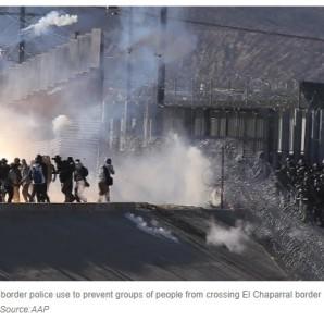 chaos at border