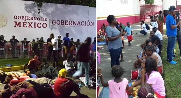 African Migrants Trapped In Mexico Protest For Right To